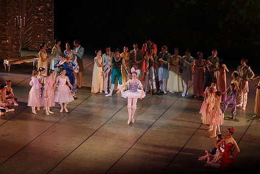 Dancers on-stage performing the Nutcracker